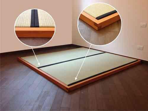 Letto tatami in legno massello 180x200 cm.   edojapan shop
